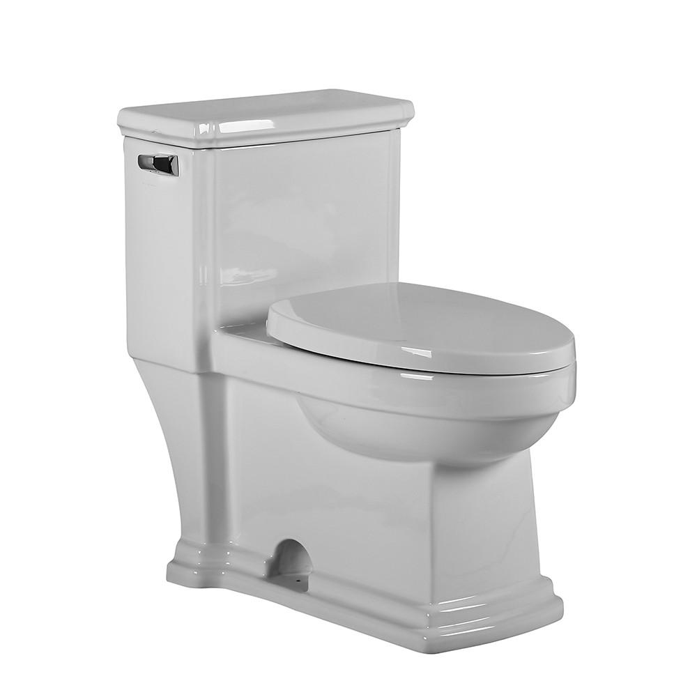Whitehaus WHMFL221-EB Magic Flush Eco-Friendly One Piece Single Flush Toilet With  Elongated Bowl