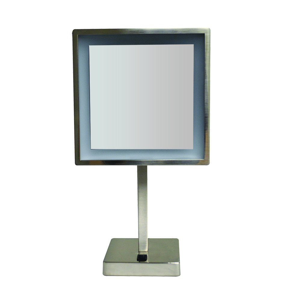 Whitehaus WHMR295 Square Freestanding Led 5X Magnified Mirror