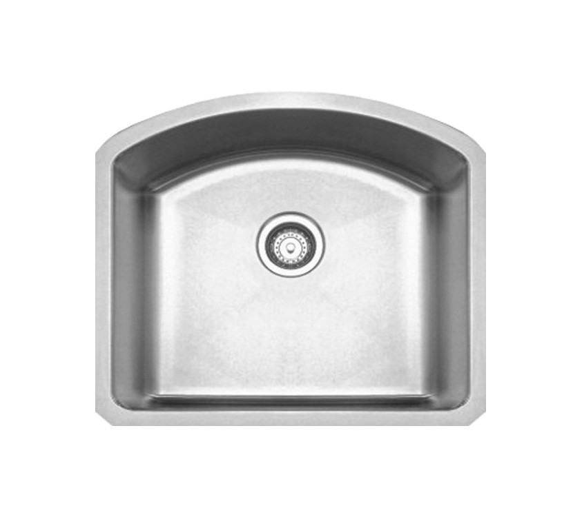 Whitehaus WHNC2321 Stainless Steel 23'' Single Bowl Kitchen Undermount Sink