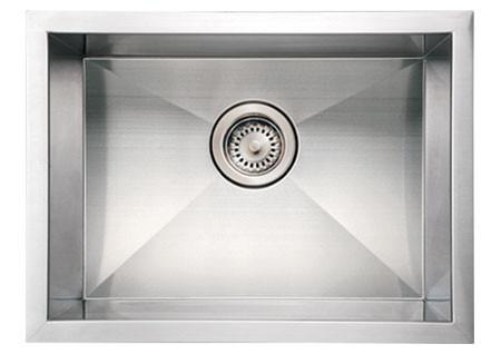 """Whitehaus WHNCM2015 Stainless Steel 20"""" Single Undermount Kitchen Sink"""