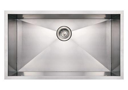 Whitehaus WHNCM3219 Stainless Steel 32'' Single Undermount Kitchen Sink