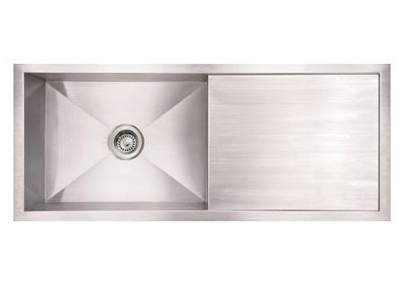 Whitehaus WHNCM4019 Stainless Steel 40'' Single Kitchen Sink w/ Drainboard