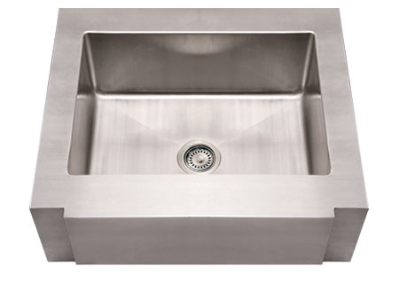 """Whitehaus WHNCMAP3026 Stainless Steel 30"""" Single Apron Front Kitchen Sink"""