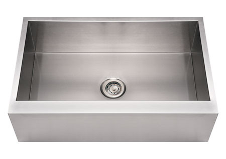 "Whitehaus WHNCMAP3321 Steel 33"" Single Bowl Apron Front Kitchen Sink"