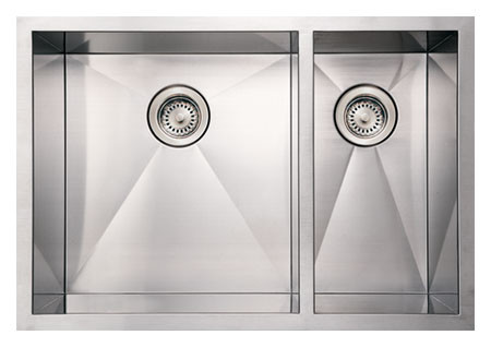 Whitehaus WHNCMD2920 Stainless Steel 29'' Double Undermount Kitchen Sink