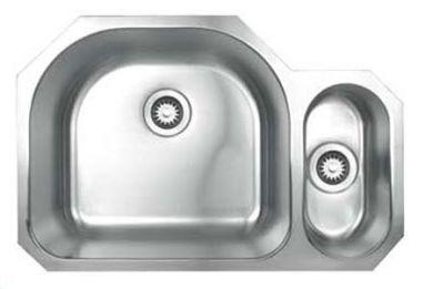 """Whitehaus WHNDBU3121 Stainless Steel 31"""" 2 Bowl Undermount Kitchen Sink"""