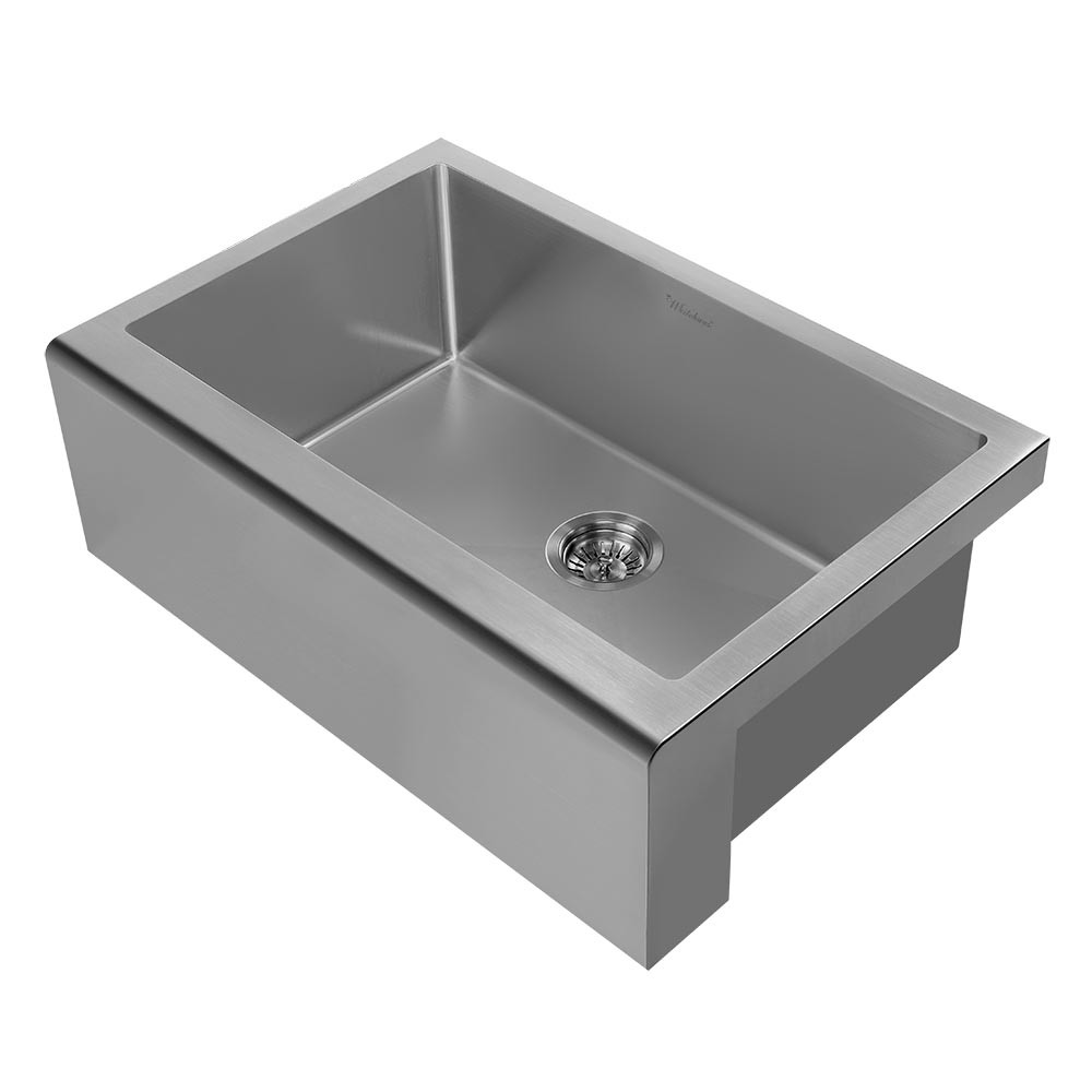 Whitehaus WHNPL3020-GM Noah Plus Undermount Kitchen Sink Set In Gunmetal
