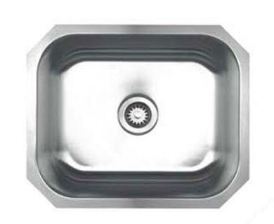 Whitehaus WHNU2016 Stainless Steel 20'' Single Bowl Undermount Kitchen Sink