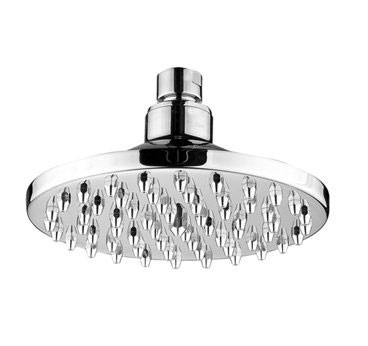 Whitehaus WHOSA10-6 Chrome Brushed Round Bathroom Lavatory Rain Showerhead
