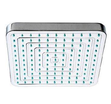 Whitehaus WHOSA28SQ-8 8'' Square Bathroom Rain Showerhead with Rubber Tips