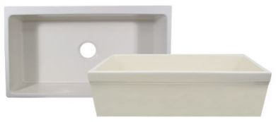 Whitehaus WHQ530 Single Bowl Fireclay 30'' Farmhouse Apron Kitchen Sink