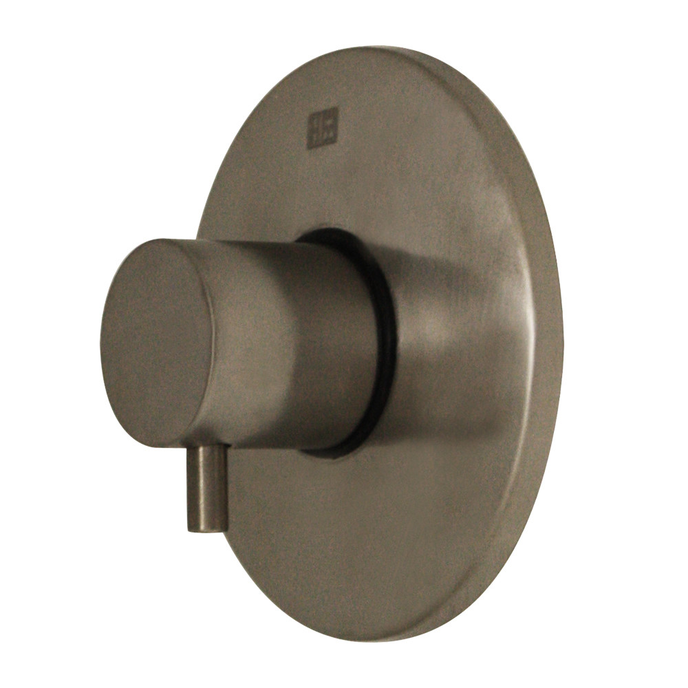 Whitehaus WHUS40078-BN Luxe round volume control with short lever handle