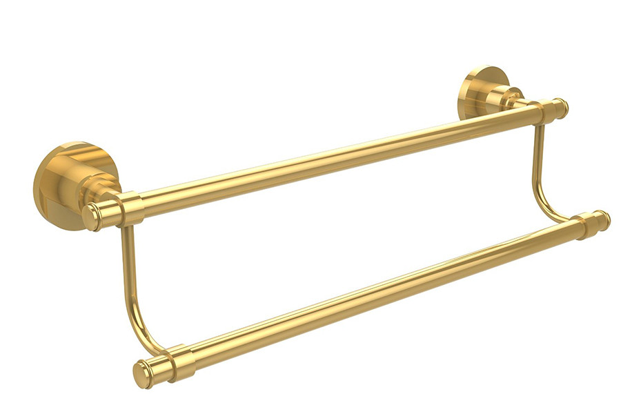 Allied Brass WS-72-24-PB 24 Inch Double Towel Bar in Polished Brass