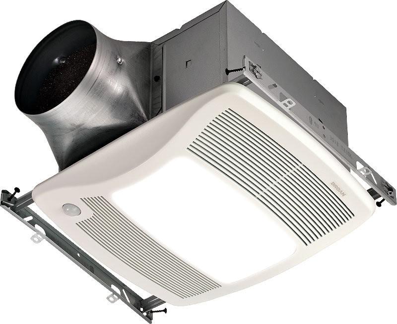 Broan ZB80ML 80 CFM Multi Speed Motion Sensor Bath Fan/Light/ - Fluorescent