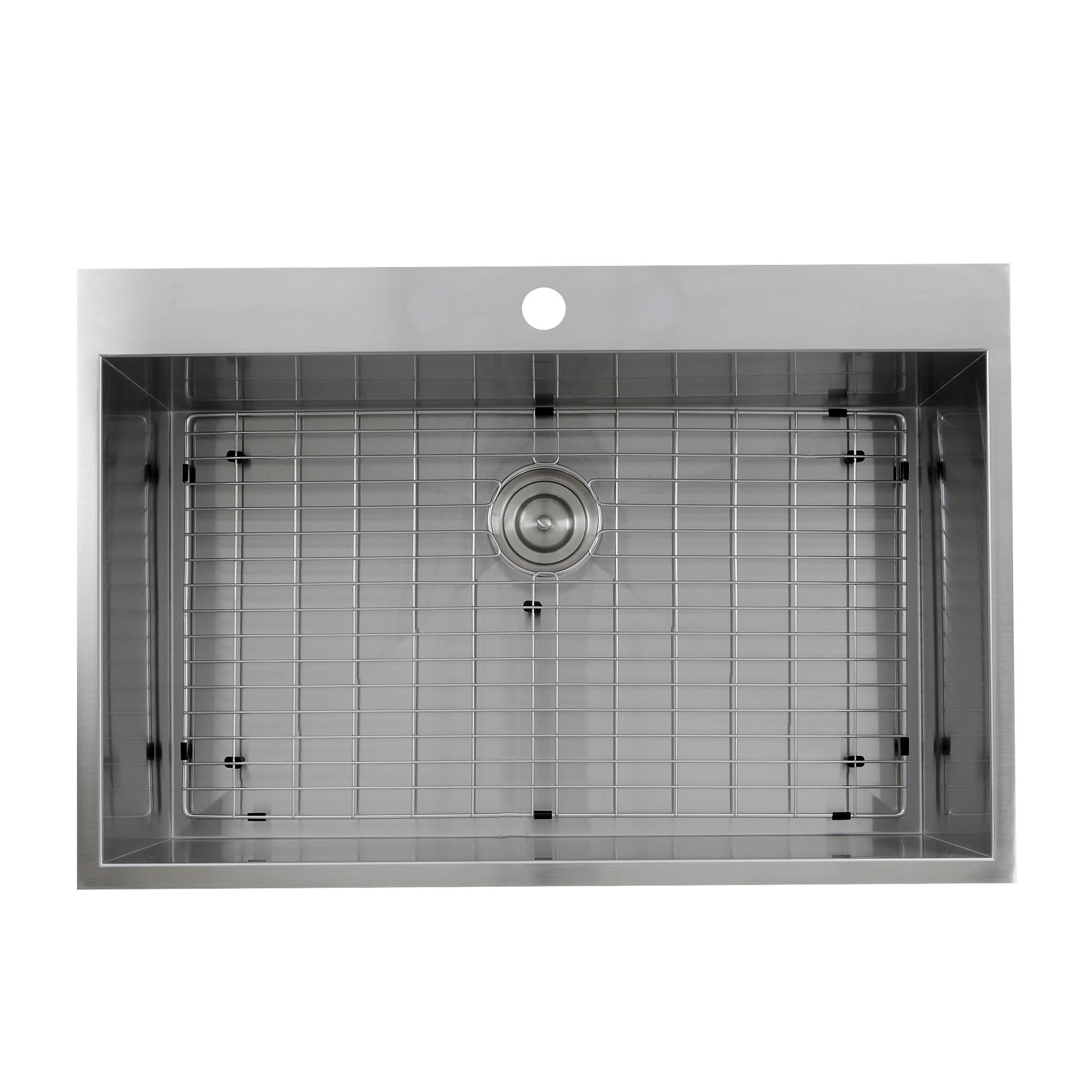 Nantucket Sinks ZR3322-S-16 Self Rimming Stainless Steel Kitchen Sink