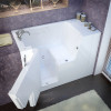 MediTub 2953WCALWS Wheel Chair Accessible Left Drain White Soaking Bathtub