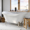 Cambridge ADES-NH-BN Double Ended Slipper Tub With Brushed Nickel Feet