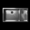 Cantrio Koncepts KSS-107 18 gauge Undermount bowl and a half Kitchen Sink