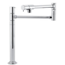 Talis S Pot Filler Faucet Deck Mounted with Metal Lever Handles In Polished Chrome