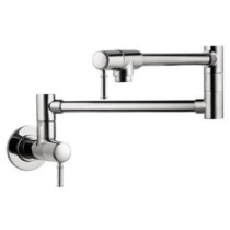 hansgrohe 04218830 Talis C Brass Wall-mounted Pot Filler in Polished Nickel