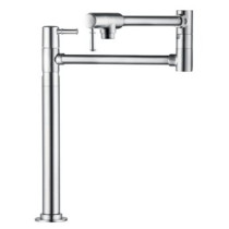 hansgrohe 04219830 Talis C Brass Deck-mounted Pot Filler in Polished Nickel