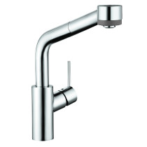 hansgrohe 04247800 Talis S 2-Spray Hybrid Kitchen Faucet in Steel Optik