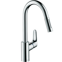 hansgrohe 04505000 Focus HighArc Pull Down Kitchen Faucet in Chrome