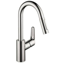 hansgrohe 04506001 Focus HighArc Prep Kitchen with Pull Down in Chrome