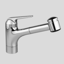 KWC 10.061.033 Single Hole Swivel Spout Pull Out Kitchen Faucet