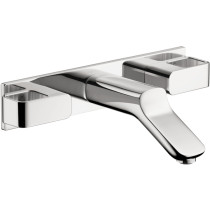 AXOR 11043001 Urquiola Chrome Wall-Mounted Widespread Faucet with Baseplate