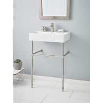 Cheviot 1234-WH-8-575-BN NUO Rectangular Brushed Nickel Console Lavatory Sink