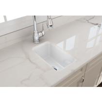 BOCCHI 1358-001-0120 Fireclay Single Kitchen Sink with Strainer In White