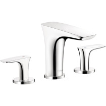 hansgrohe 15073001 Puravida Brass Widespread Bathroom Faucet in Chrome