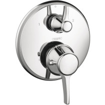 hansgrohe 15753001 C Chrome Thermostatic Trim with Volume Control