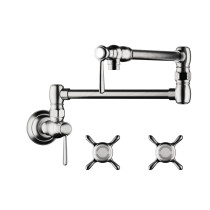 AXOR 16859001 Montreux Traditional Pot Filler Wall Mounted in Chrome