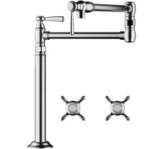 AXOR 16860831 Montreux Deck Mounted Pot Filler Faucet in Polished Nickel