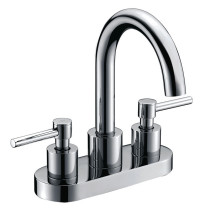 Cadell 2040001CP-WD Polished Chrome Centerset Bathroom Faucet with Drain
