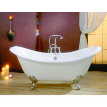 Cheviot 2112-BB-..-6 Regency Biscuit Cast Iron Footed Bathtub with 6 Inch Drilling