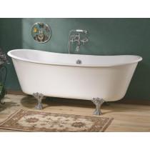 Cheviot 2122-WW Winchester Clawfoot Oval Cast Iron Bathtub in White