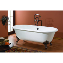 Cheviot 2126-BB-8 Regal Cast Iron Bathtub with Faucet Holes Drilled at 8 Inch