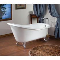 """Cheviot 2134-WW-..-8 Bathtub with Flat Area for Faucet Holes - 8"""" Drilling"""