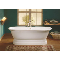 Cheviot 2139-BB Regal Cast Iron Bathtub with Pedestal Base and Continuous Rolled Rim