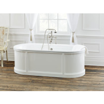 Cheviot 2141-WW Buckingham Cast Iron Bathtub in White with Continuous Rolled Rim