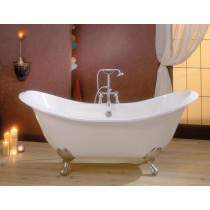 Cheviot 2148-WW-..-0 Regency Cast Iron Bathtub with No Faucet Holes