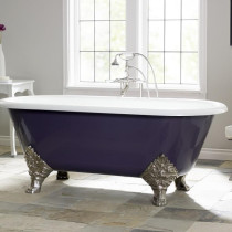 """Cheviot 2160-WW-6 Bathtub with Flat Area For Faucet Holes - 6"""" Drilling"""