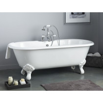 Cheviot 2168-BB-6 Regency Cast Iron Bathtub with Shaughnessy Feet and 6 Inch Drilling