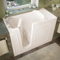 MediTub 2653LBA Walk-In 26 x 53 Left Drain Biscuit Air Jetted Bathtub