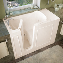 MediTub 2653LBH Walk-In 26 x 53 Left Drain Biscuit Whirlpool Jetted Bathtub