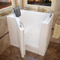 MediTub 2739RWD Walk-In Right Drain White Whirlpool & Air Jetted Bathtub