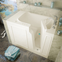 MediTub 2952LBA Walk-In 29 x 52 Left Drain Biscuit Air Jetted Bathtub